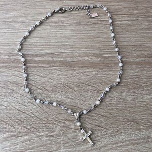 Jewelry - Rosary Style Cross Necklace